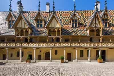 The world-famous Hospices de Beaune