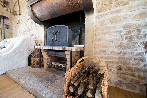 The magnificent Burgundy fireplace